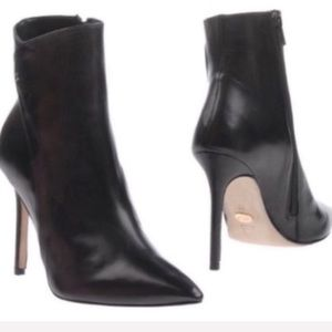 Black Leather Booties By Reve D'un Jour NWT